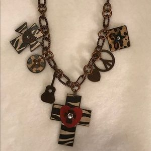 Jewelry - Western Cross Guitar Heart Heavy Metal Necklace